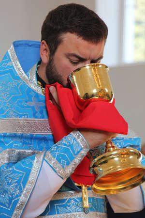 slavonic: LUTSK, UKRAINE - OCTOBER 14: Slavonic Religious celebration Pokrov at October 14, 2015 in Lutsk, Ukraine Editorial