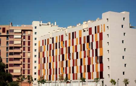 murcia: Modern city block with wooden shutters in Murcia, Spain