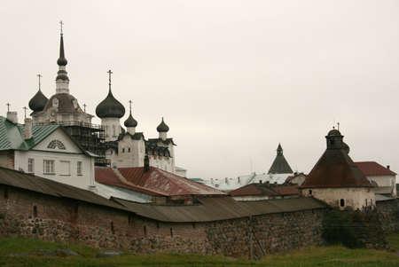 Spaso-Preobrazhensky Solovetsky monastery at Solovki islands in White sea, Russia