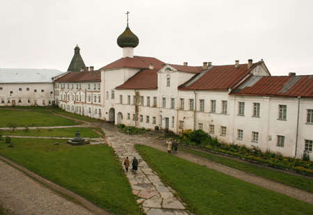 SOLOVKI, RUSSIA - 20 August 2008: Spaso-Preobrazhensky Solovetsky monastery at Solovki islands in White sea