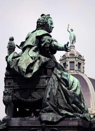 empress: Statue of the Austrian Empress Maria Theresia in Vienna, Austria
