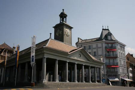 vevey: VEVEY, SWITZERLAND - 03 MAY 2009: La Grenette de Vevey, office du tourisme Editorial