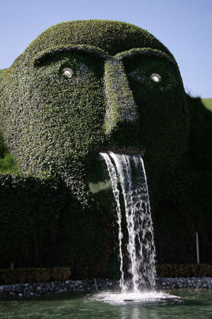 WATTENS, AUSTRIA - 07 May 2009: The entrance of Swarovski Crystal Worlds entitled The Giant. It is a museum, building in 1995 in celebration of the 100th anniversary of the Swarovski. Editorial