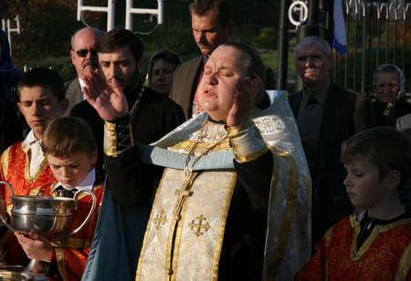 cassock: LUTSK, UKRAINE - 14 OCTOBER 2008: Slavonic Religious celebration Pokrov