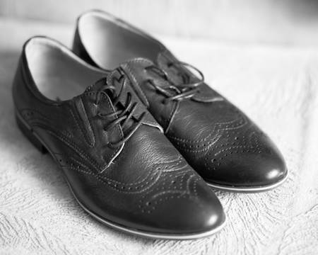 Mens fashion shoes. Shallow dept of field.