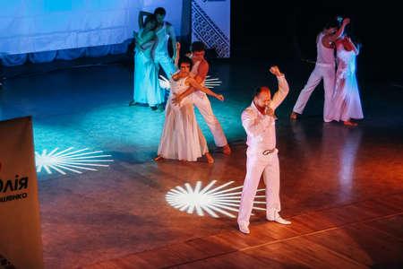 Lutsk, Volyn  Ukraine - October 16 2009: Ukrainian operatic tenor Yuri Godo performs at the Academic Theater