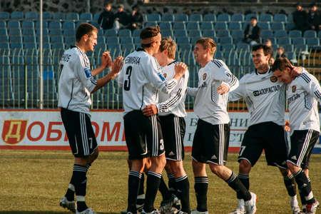 Lutsk, Volyn  Ukraine - March 21 2009: Match between FC Metalurh Zaporizhya and FC Lviv