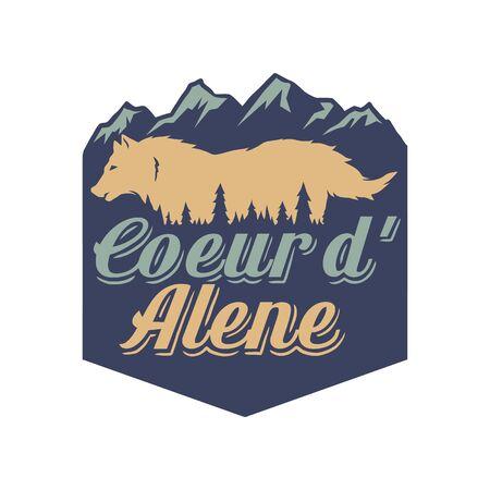 Vector illustration of coeur d'alene
