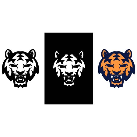 Tiger icon with three color variations