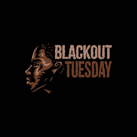 Vector illustration of blackout tuesday, isolated on black Illustration