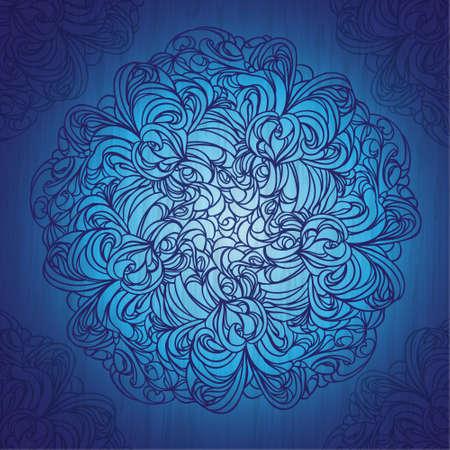 Ornamental round lace pattern on grunge background. EPS10.