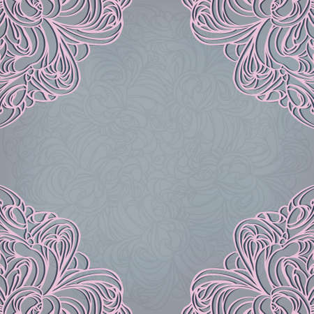 Invitation decoration with lace ornament   Eps10  Contains transparency
