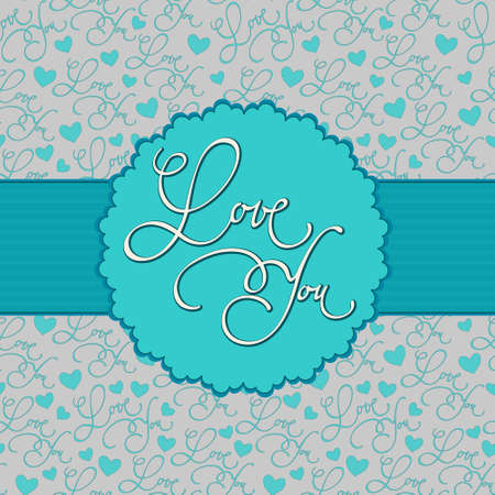 calligraphic background with  Illustration