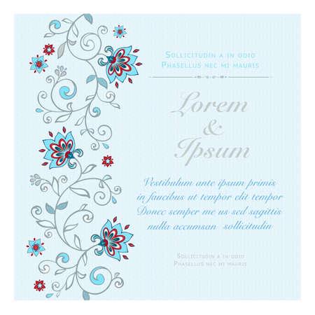 Tarjeta de invitación en colores pastel. Foto de archivo - 25071387