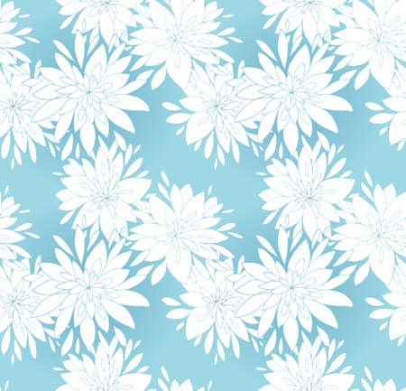 Seamless elegant pattern with decorative flowers. Vector