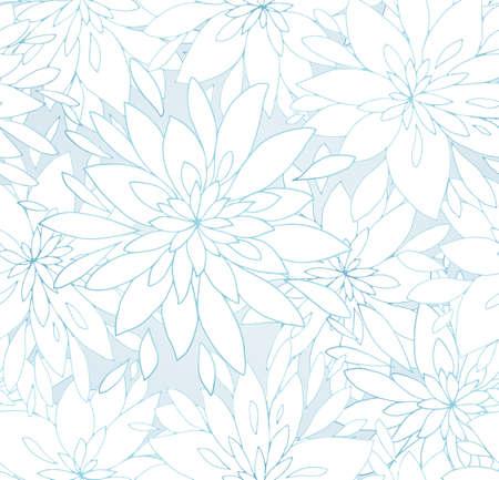 Seamless elegant pattern with decorative flowers.
