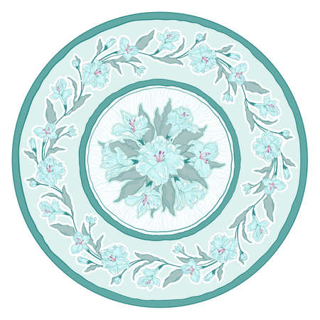 scrollwork: Round floral ornament