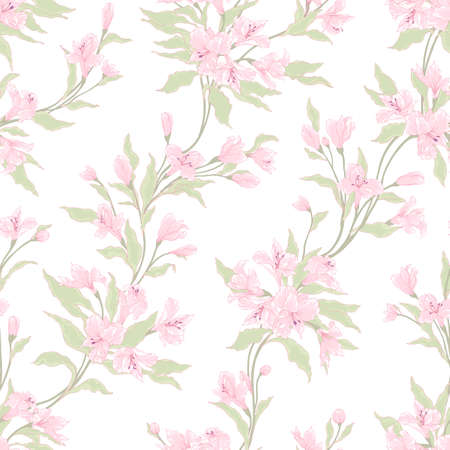Stylish vintage floral seamless pattern. Vector