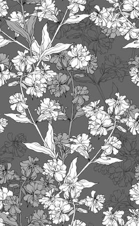 hand drawn flower: seamless floral pattern with hand drawn flowers