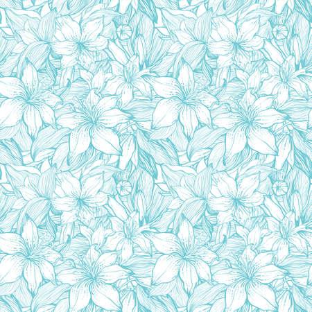 スタイリッシュなビンテージ花シームレスなパターン