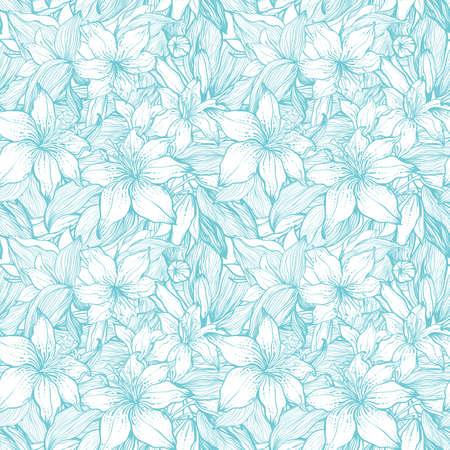 Stylish vintage floral seamless pattern