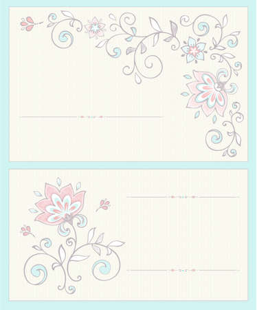 Invitation card in pastel colors  Vector