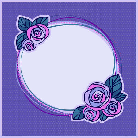 Decorative frame with roses Vector
