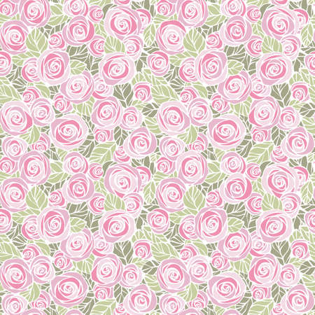 Vintage floral seamless pattern  EPS8 vector  Easily editable  Illustration