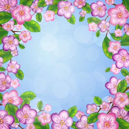 Apple flower frame  EPS 10 vector illustration  Vector