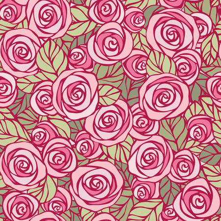 midday: Midday roses  Seamless floral pattern  EPS8 vector  Illustration
