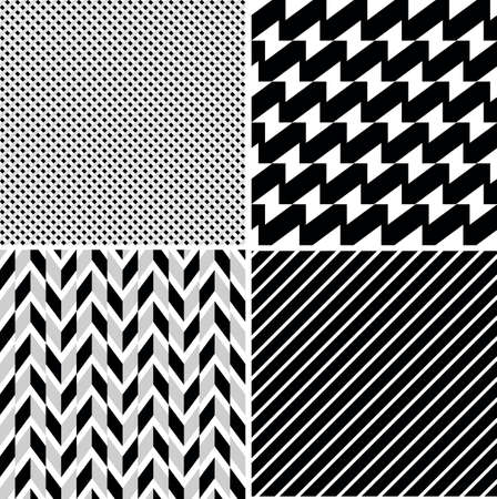 A set of vector seamless retro patterns
