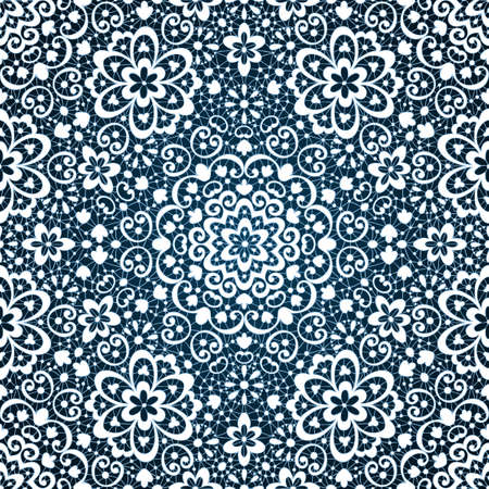 Ornamental seamless lace pattern Vector