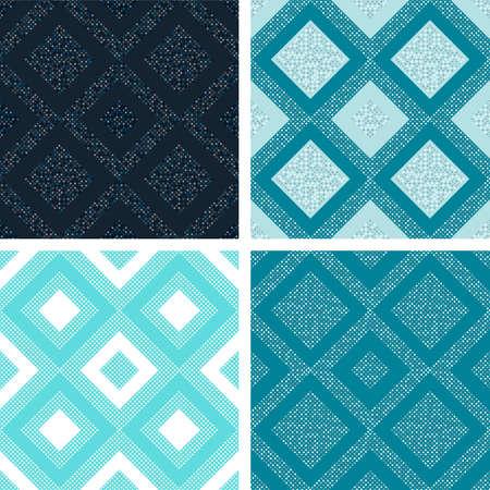 motton blue: Seamless tile pattern