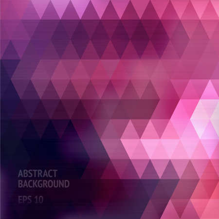 Abstract geometric background with place for your text. Triangle pattern. Vector