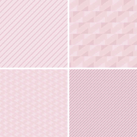 A set of vector seamless retro patterns. Vector