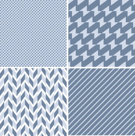 A set of vector seamless retro patterns. Illustration