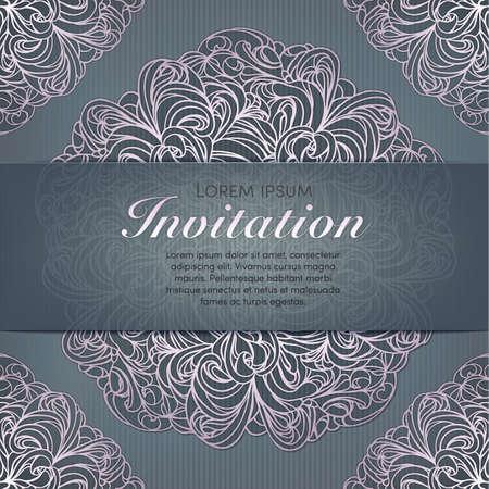 Invitation card set in original
