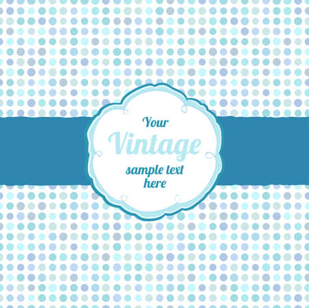Seamless polka dot pattern with label in free style