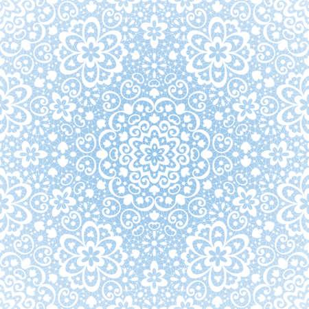 Ornamental seamless lace pattern on grunge background   Иллюстрация