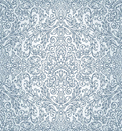 scrollwork: Ornamental seamless lace pattern Illustration