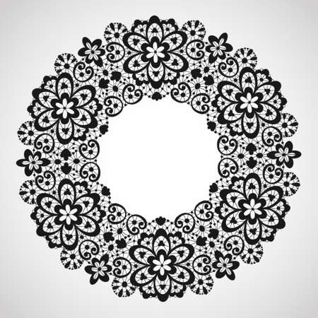 Ornamental round lace pattern textured background