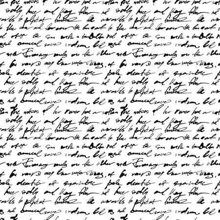 Patrón sin fisuras con el texto de escritura a mano Ilustración de vector