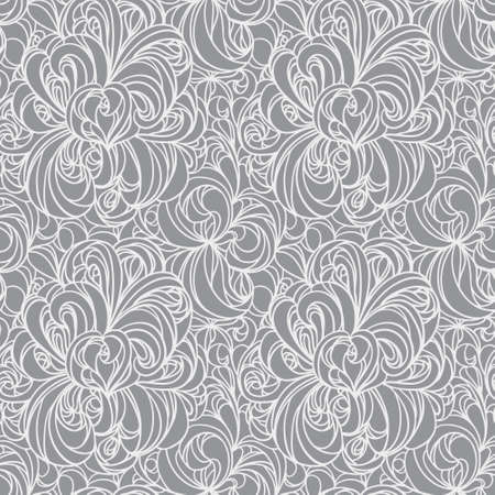 floral abstract seamless line vector pattern. EPS10. Vector