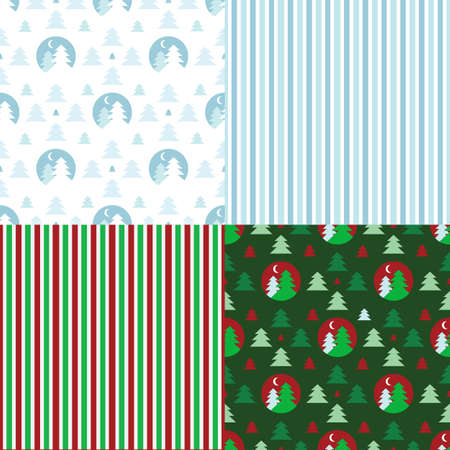 Set of decorative christmas patterns Vector