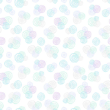 rose silhouette: Seamless pattern with abstract flowers.