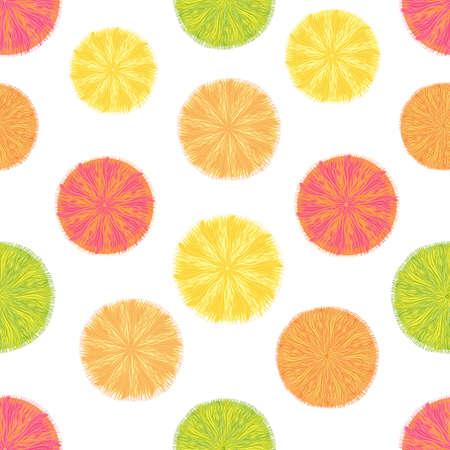 Seamless decorative polka dot pattern Vector