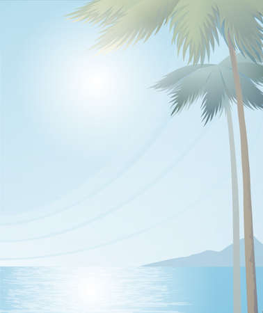 Summer vector background with palm trees.