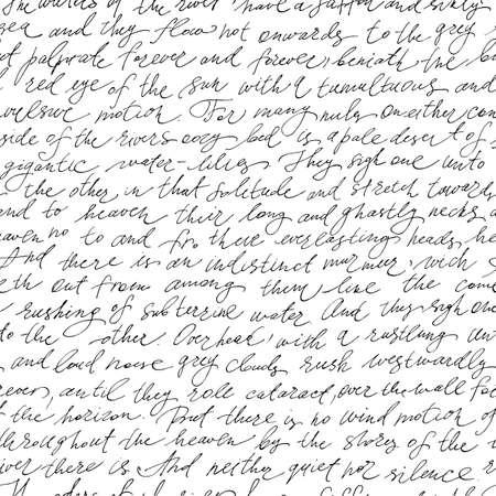 Naadloze patroon met handgeschreven tekst Stock Illustratie
