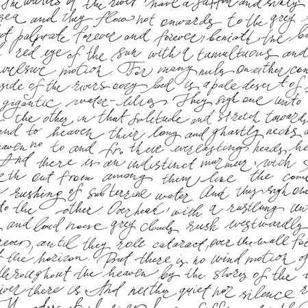 Patrón sin fisuras con el texto de escritura a mano
