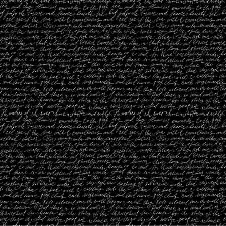 cursive: Seamless pattern with handwriting text